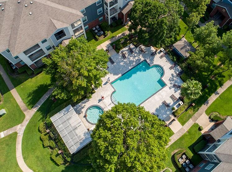 birds eye resident pool at 8181 Med Center, Houston, TX, 77054
