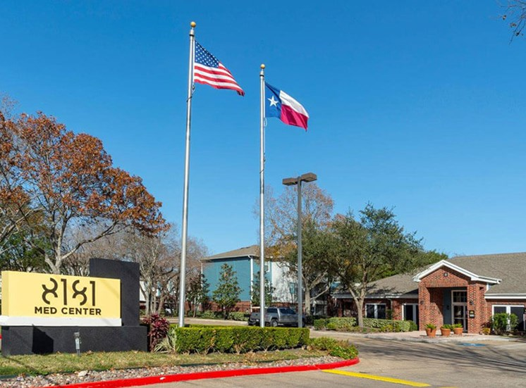 Community Monument Sign at 8181 Med Center, Texas