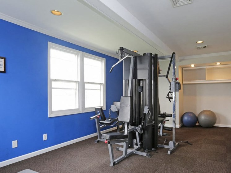 fitness center at Town & Country Apartments