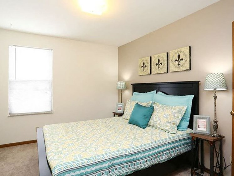bedroom at Town & Country apartments