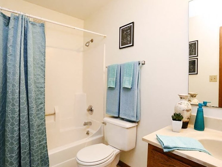 bathroom at Town & Country apartments