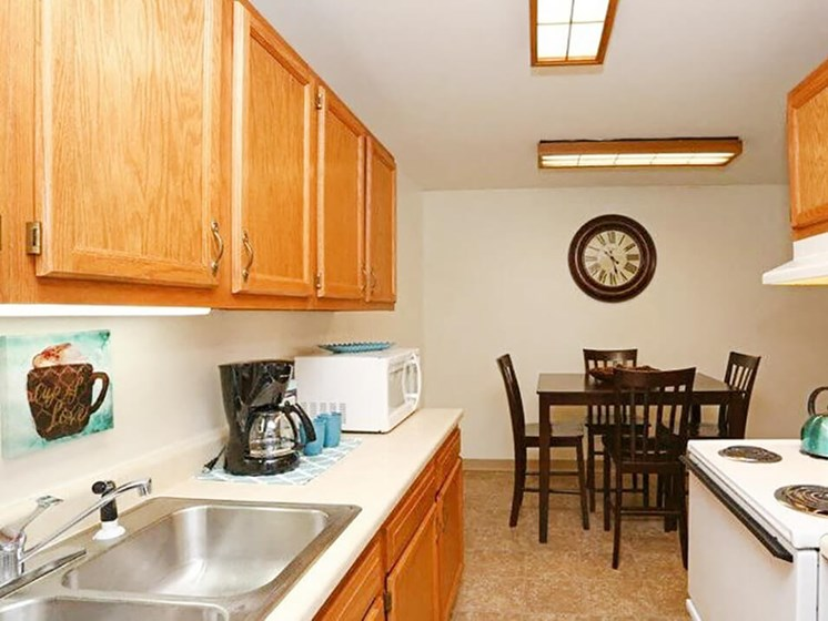 kitchen at town & country apartments