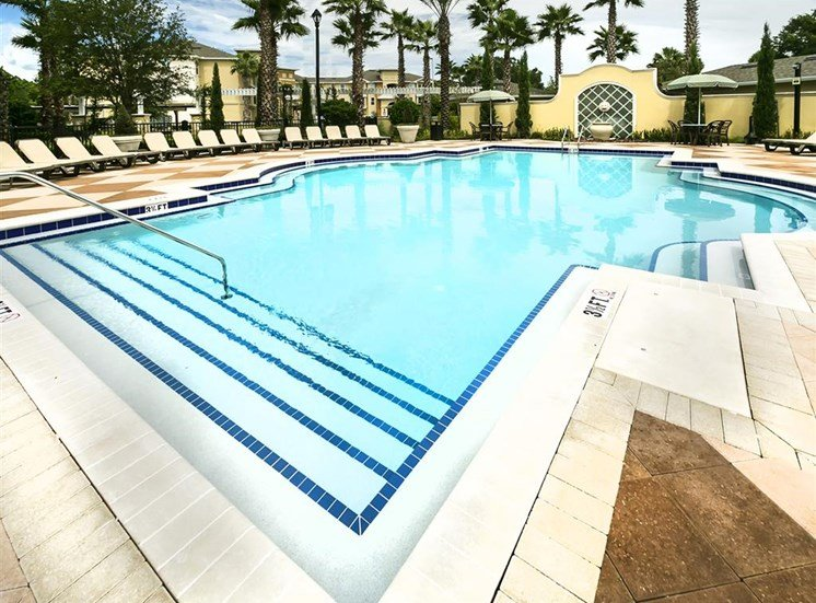 Swimming Pool With Sparkling Water