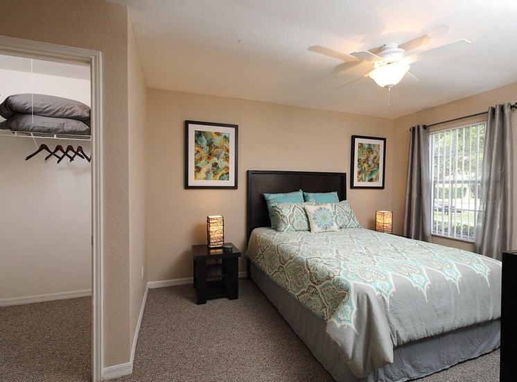 Comfortable Bedroom With Closet