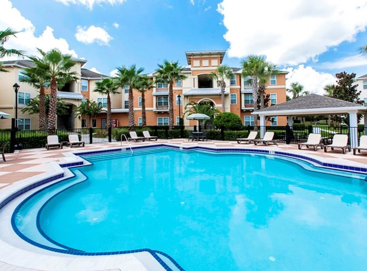 Saltwater Pool, Spa, And Sundeck With Cabanas
