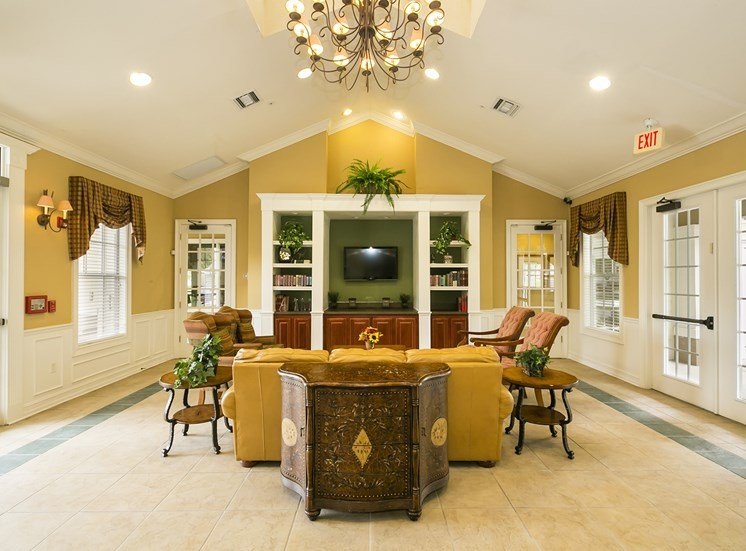 Large Clubhouse With Ample Sitting And Television