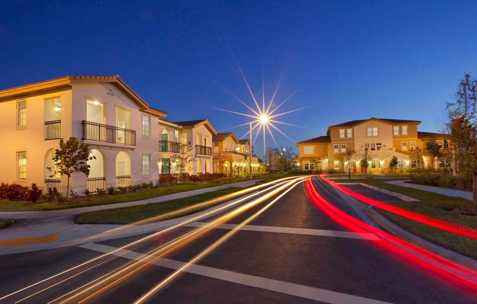 Dusk time street view of apartment buildings_Northpark at Scott Carver Apartments Miami, FL