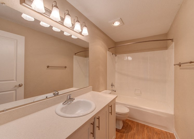 Bathroom with Bathtub, Vanity, and Sink