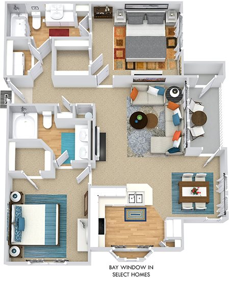 Floor Plans Of Bexley Square At Concord Mills In Concord Nc