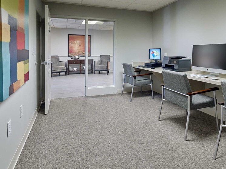 Rush Crossing computer room in the community building
