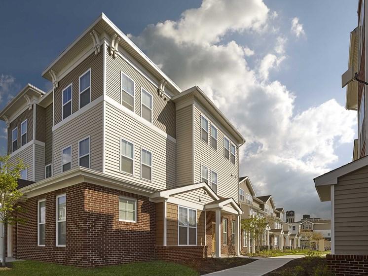 Exterior of Rush Crossing affordable apartments in Trenton, NJ