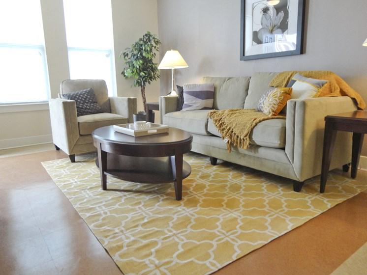 Rush Crossing apartment living room in Trenton, NJ