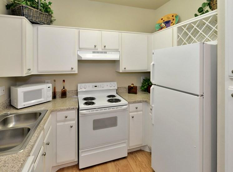 Built-in wine shelves, ice maker, disposal and dishwasher at Greysons Gate.