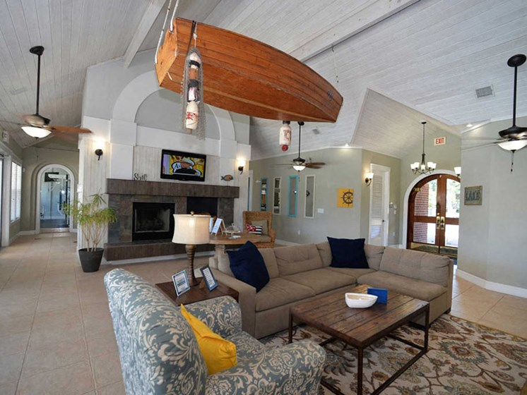 inside Harbour Breeze community clubhouse