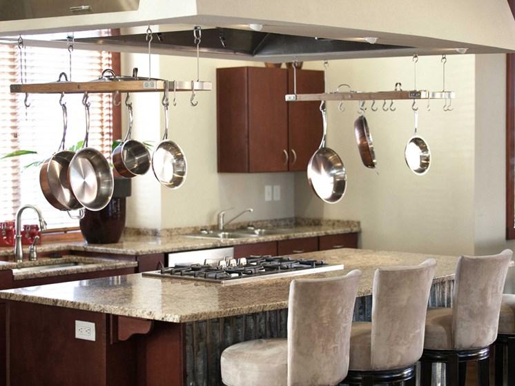 granite counter-top bistro bar breakfast area inside 1200 acqua apartments