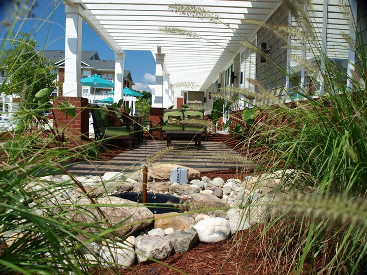well maintained landscaping surrounds our apartment home in  petersburg virginia