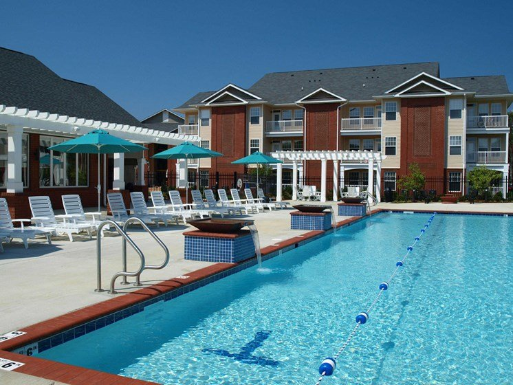 resort-style pool with lap lanes at 1200 Acqua