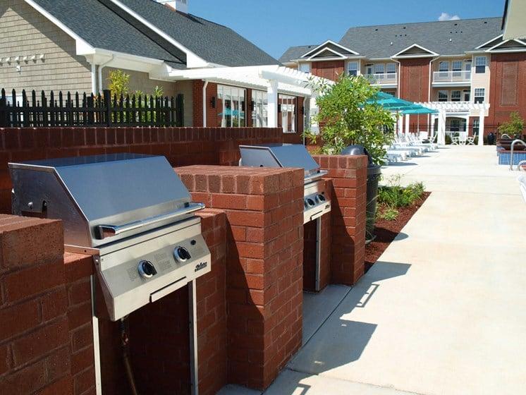 Outdoor BBQ area pool-side in petersburg va