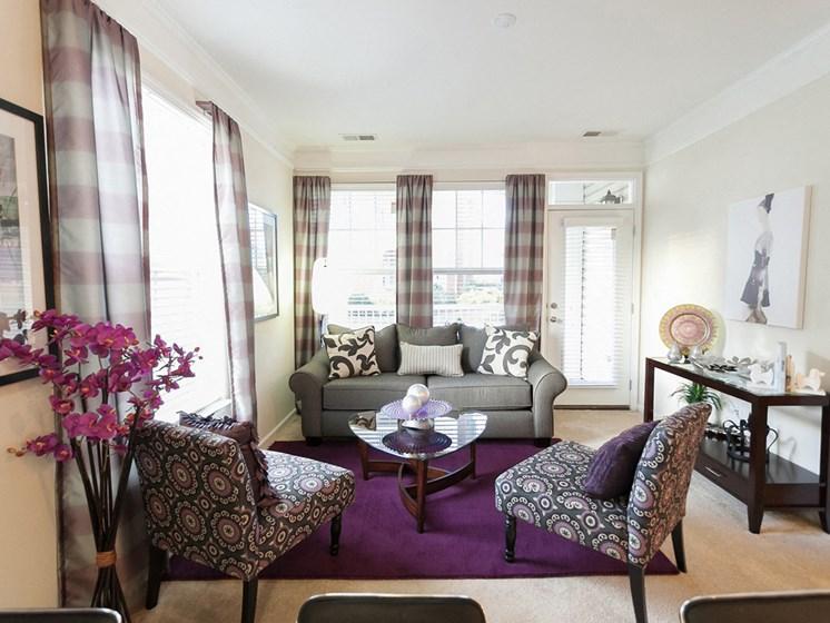 decorated apartment home living at 1200 Acqua Apartments