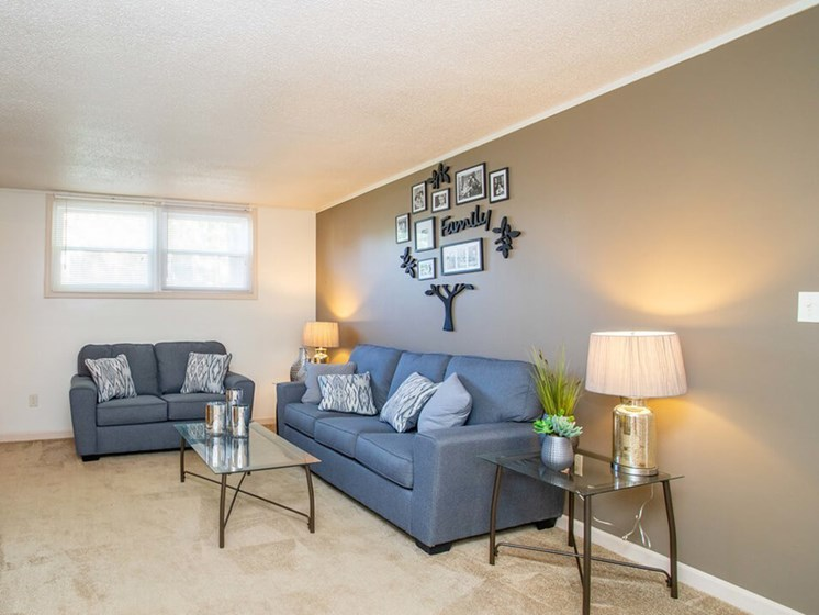 large living room at Arbors of Eastland apartments
