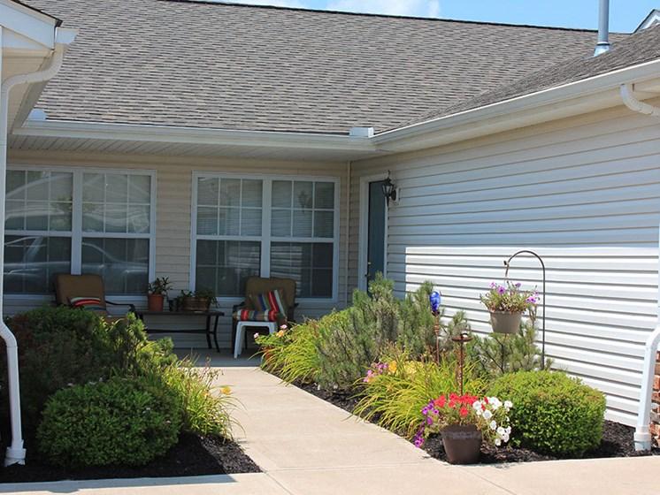 Brunswick Ohio Apartment Rentals Redwood Living Stoney Run Plum Creek Entrance