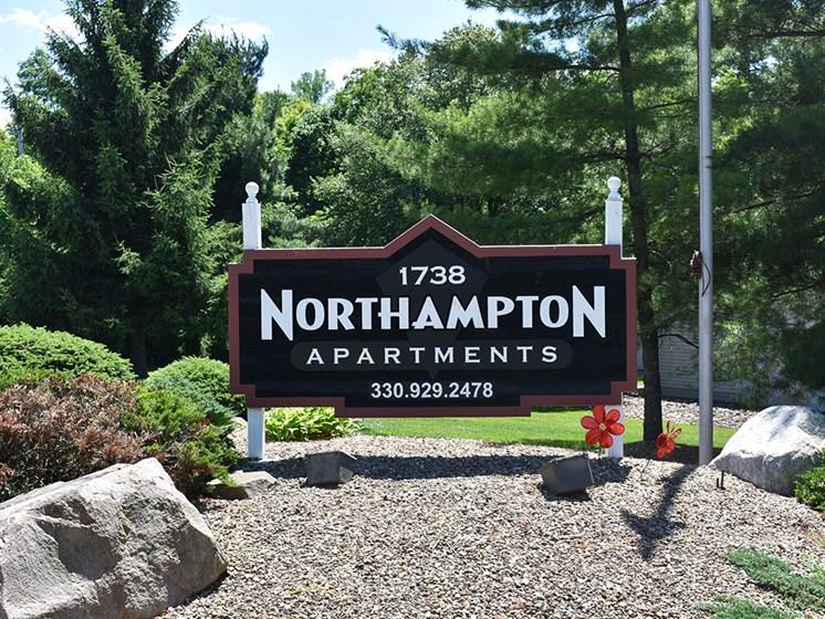 Akron Ohio Apartment Rentals Northampton Apartments by Redwood Exterior Original Sign