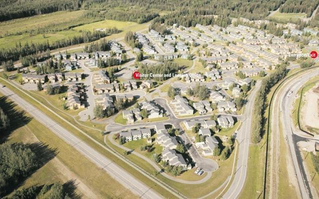 Beautiful Ariel View of Birchwood Homes, Fairbanks, AK,99701