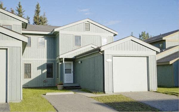 electric garage door opener with remote control at Birchwood Homes, Fairbanks, AK,99701