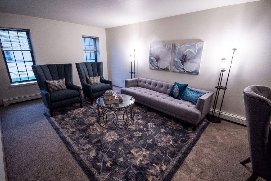 Sofa in Living Room at Birchwood Homes, Fairbanks, Alaska