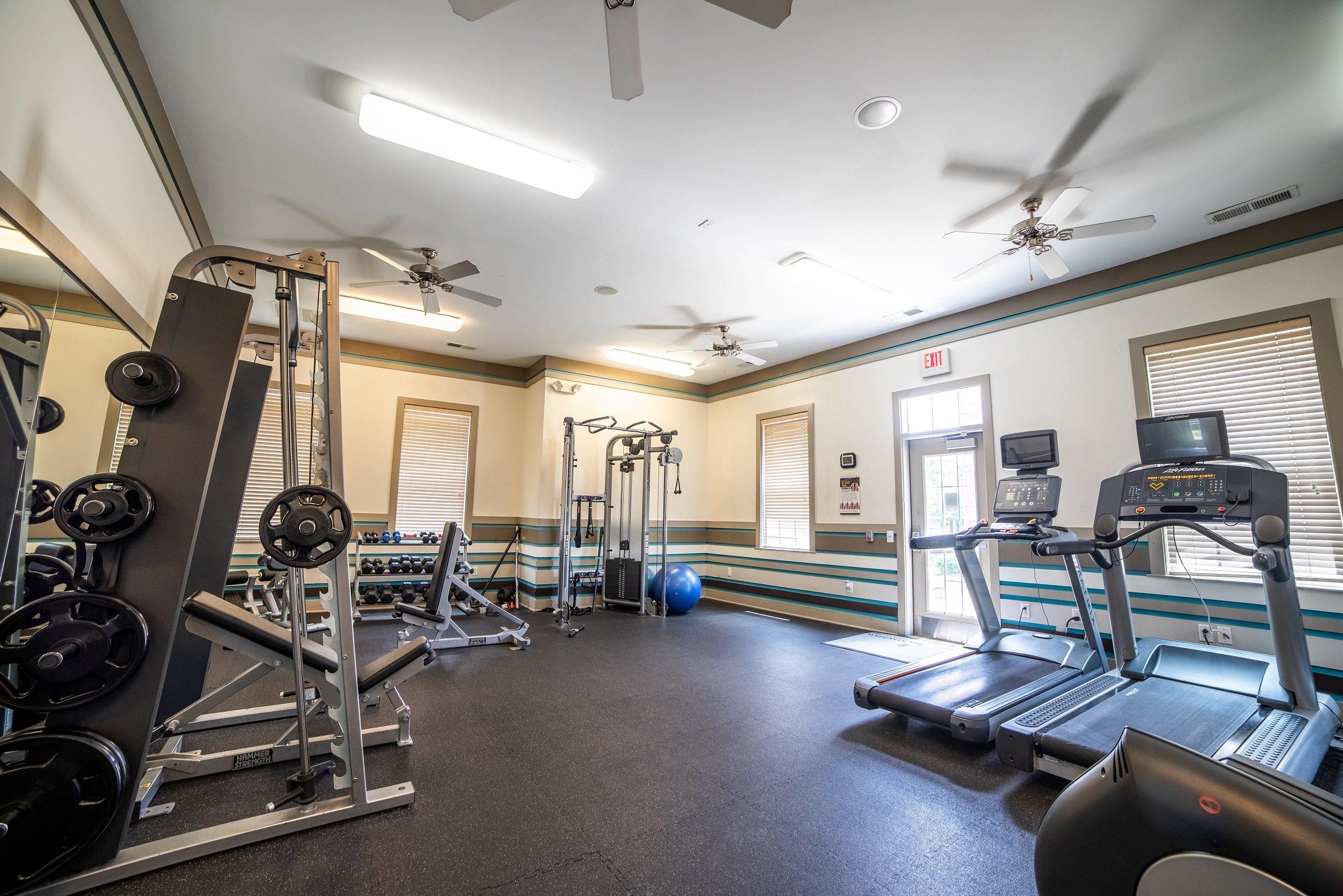 Fitness Center With Modern Equipment at Buckingham Monon Living, Indiana