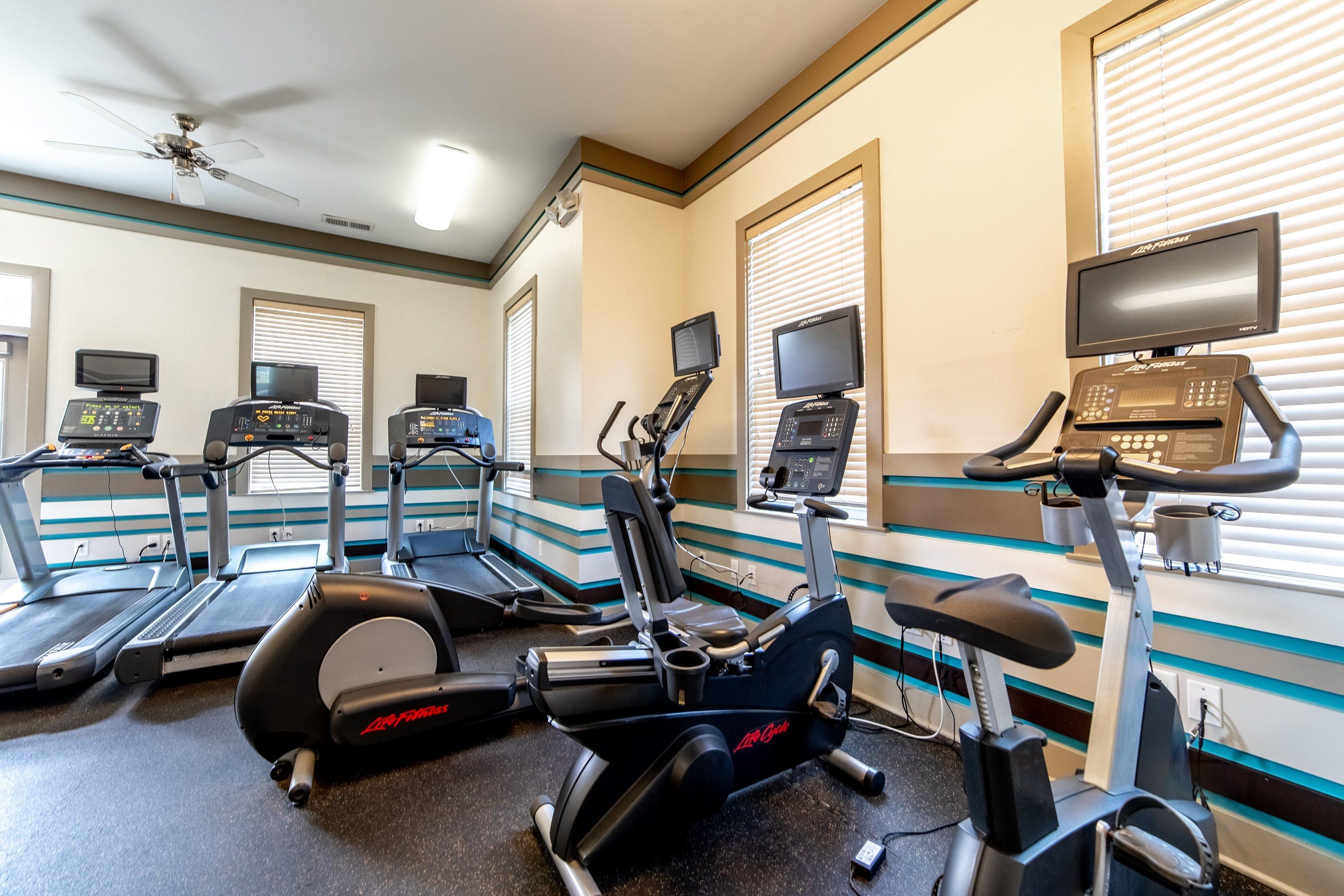 Cardio Machines In Gym at Buckingham Monon Living, Indianapolis, IN, 46220