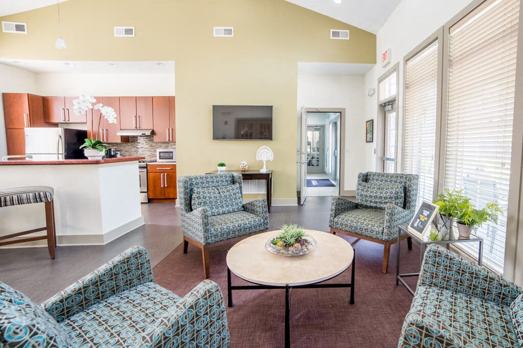 Contemporary Dining Room, at Buckingham Monon Living, Indianapolis, 46220
