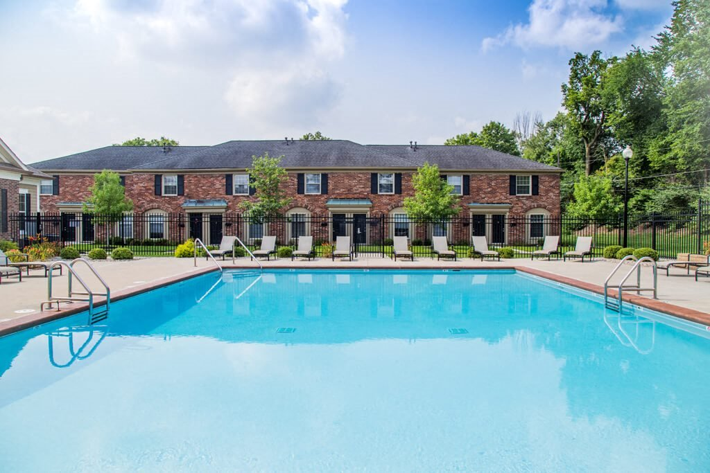 Poolside Relaxing Area, at Buckingham Monon Living, Indianapolis, IN
