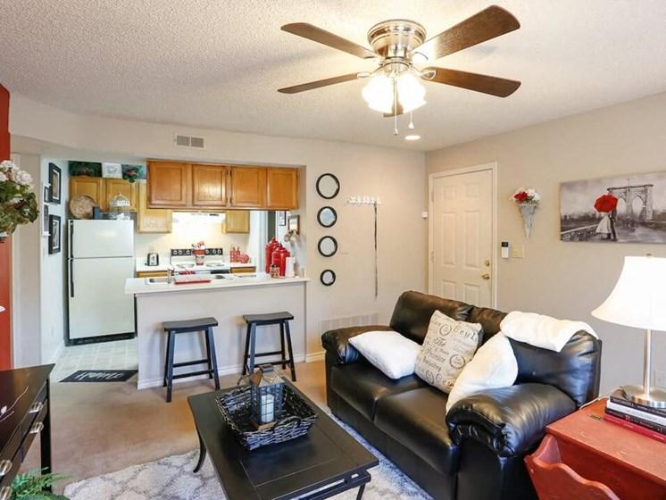Open apartment floor plan