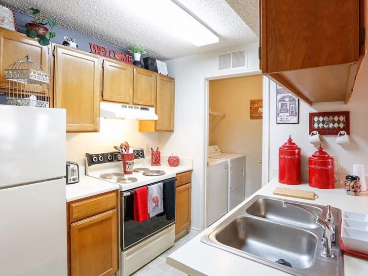 apartment with kitchen appliances