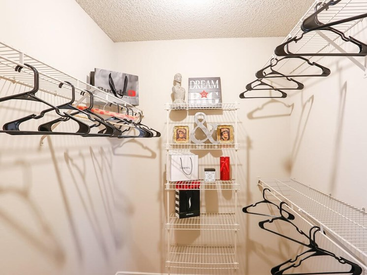 bedroom closet in apartment
