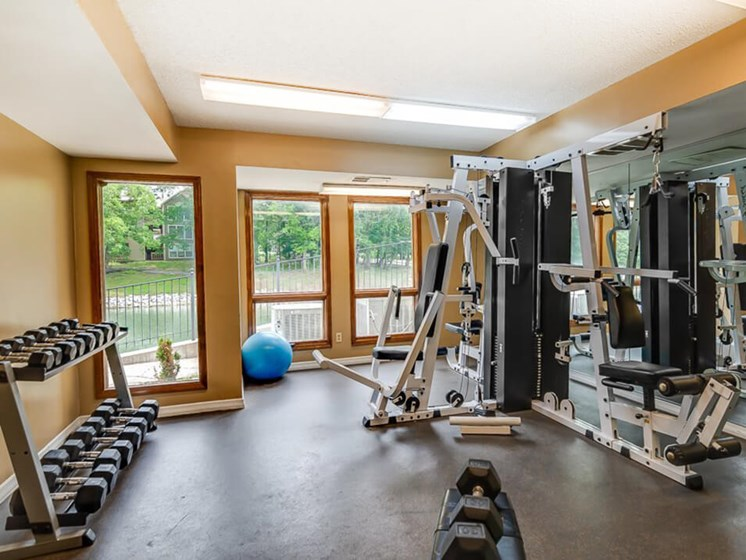 apartment Fitness Center with Weights
