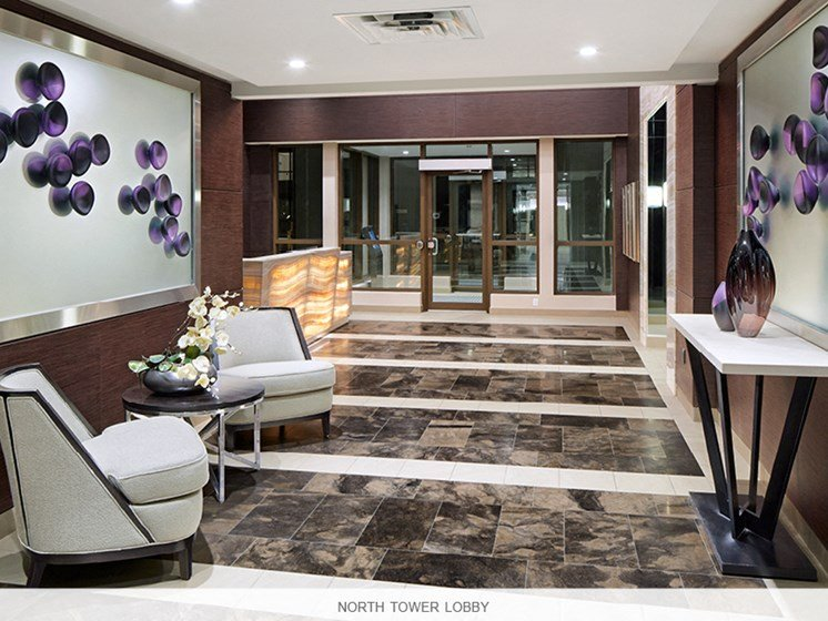 Apartment Lobby with Seating Area North Tower
