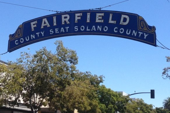 Daytime photo of downtown Fairfield