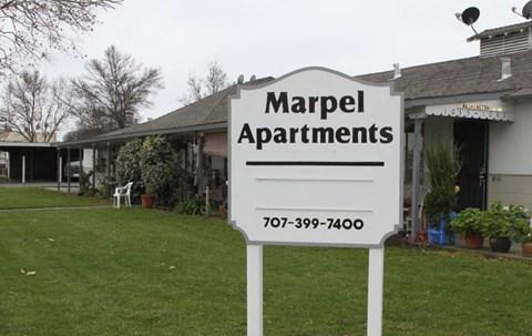 Marpel Monument Sign