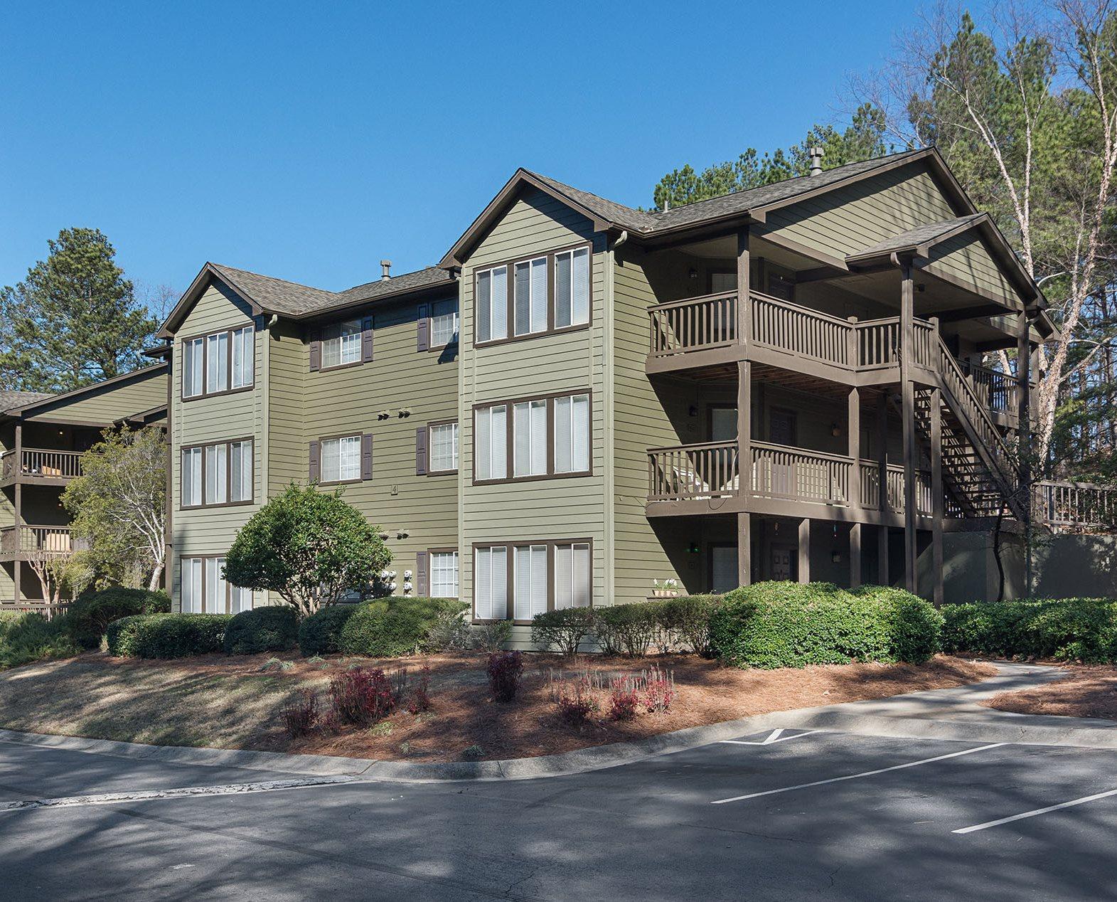 Apartment Buildings at Champions Glen Apartments in Union City, Georgia, GA 30291