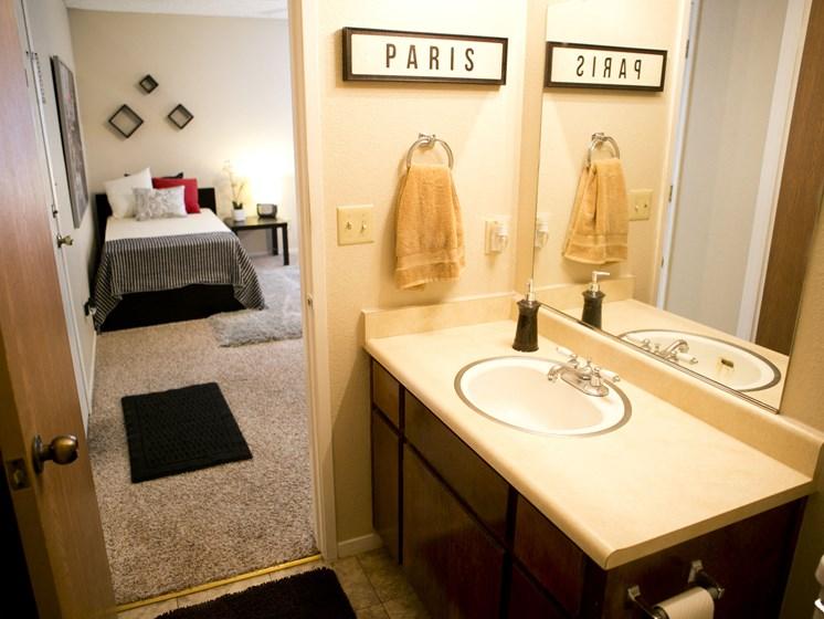 unremodeled 2x2 master bath