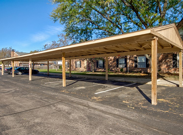 Covered carports are available for an additional fee to protect your car from weather.