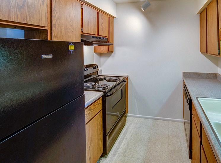One Bedroom Kitchen at Briarwood Toledo