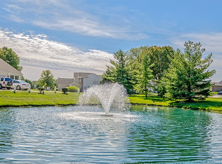 Tranquil Pond at Thompson Village Apartments