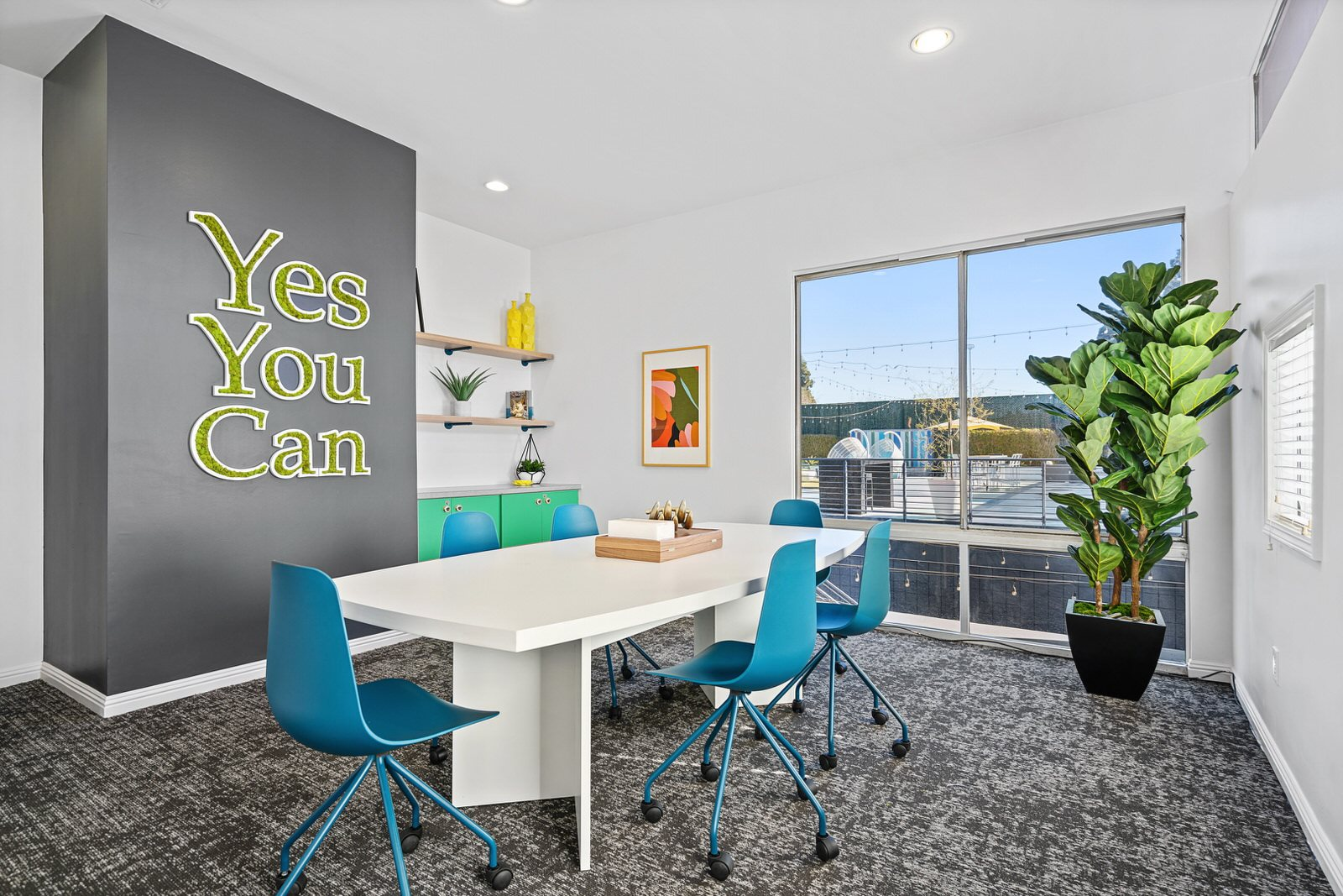 Community Workspace at Milano Apartments 20900 Anza Ave Torrance, CA 90503
