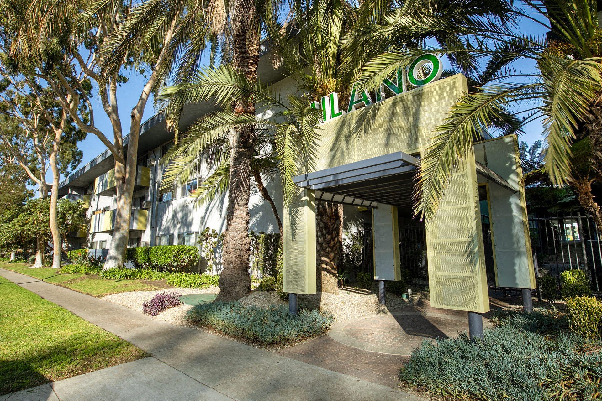 Main Entrance Milano Apartments 20900 Anza Ave Torrance, CA 90503