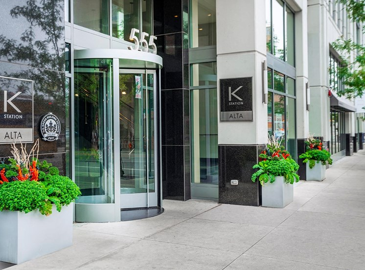 Entrance to Alta at K Station on West Kinzie Street in Chicago