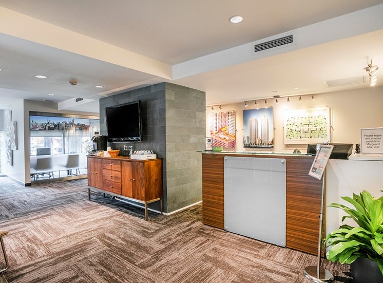 Leasing office at Alta at K Station in Chicago