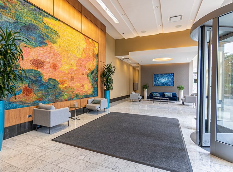 Lobby of Alta at K Station Luxury Apartment Towers